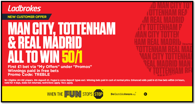 Ladbrokes 50/1 offer